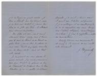 Ivan Turgenev Autograph Letter Signed Praising Dickens: the pleasure of reading Dickenss Pickwick and His Own Novel Smoke: I am undertaking a large novel - I have this bull by the horns