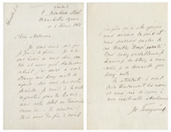Ivan Turgenev Autograph Letter Signed From 1871 While Working on Torrents of Spring -- ...I am about to depart for Russia...