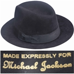 Michael Jacksons Famous Black Fedora -- Worn by Michael During the 1984 Victory Tour