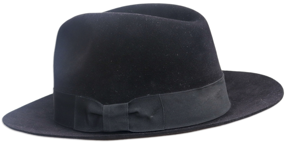 Michael Jackson's Famous Black Fedora -- Worn by Michael During the 1984 ''Victory'' Tour