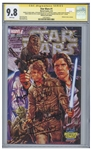 Star Wars #1 Signed by Harrison Ford, Mark Hamill, Carrie Fisher, Peter Mahew, Anthony Daniels, David Prowse and Kenny Baker -- CGC Graded 9.8