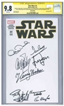 Star Wars #1 Signed by 10 of the Cast: Harrison Ford, Mark Hamill, Carrie Fisher, Peter Mahew, Anthony Daniels, David Prowse, Kenny Baker, Billy Dee Williams, Jeremy Bulloch, and Ian McDiarmid