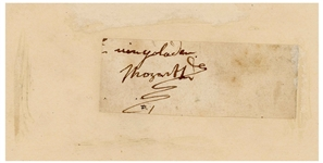 Scarce Signature by Wolfgang Amadeus Mozart -- With PSA/DNA COA