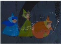 Original Sleeping Beauty Disney Cel of the Fairy Godmothers