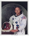 Neil Armstrong Signed 8 x 10 NASA White Spacesuit Photo -- Uninscribed & With JSA COA -- Near Fine Condition