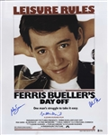 Ferris Buellers Day Off Cast-Signed Movie Poster -- With Beckett COA