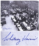 Whitney Harris Signed Photo of the Nuremberg Trials -- Harris Was One of the U.S. Prosecutors for the Trials -- With PSA/DNA COA