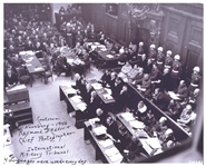 Raymond DAddario Signed Photo of the Nuremberg Trials -- DAddario Was Chief Photographer for the Trials -- With PSA/DNA COA