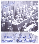 Henry T. King Signed Photo of the Nuremberg Trials -- King Was One of the U.S. Prosecutors for the Trials -- With PSA/DNA COA