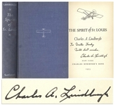 Charles Lindbergh Signed Copy of The Spirit of St. Louis