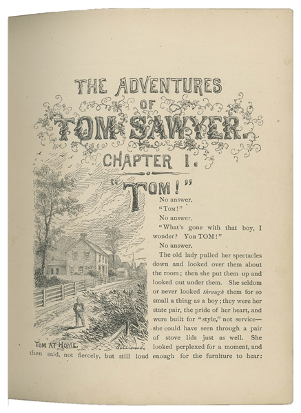 Scarce First Edition, First Printing of Mark Twain's ''Adventures of Tom Sawyer''