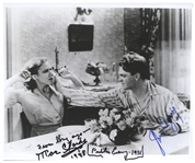 James Cagney and Mae Clarke Signed 10 x 8 Photo From The Public Enemy of the Notorious Grapefruit Scene -- With JSA COA