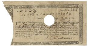Revolutionary War Bond Issued to a Continental Army Soldier in the Connecticut Line