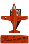 Chuck Yeager Signed Bell X-1 Model Airplane -- The Plane Yeager Piloted When He Broke the Sound Barrier in 1947