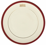 Ronald Reagan Commemorative China Plate for the First Ladies Breakfast -- Bordered in Reagan Red