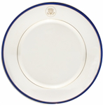 White House Dinner Plate From the Bill Clinton Administration -- For the White House Mess