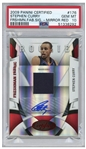 Stephen Curry 2009 Panini Certified Mirror Red Freshman Fab Signature Card #176 -- Currys Rookie Year -- Limited Edition of 100 -- Graded PSA Gem Mint 10