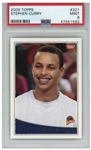 Stephen Curry 2009 Topps Rookie Card #321 -- PSA Graded Mint 9