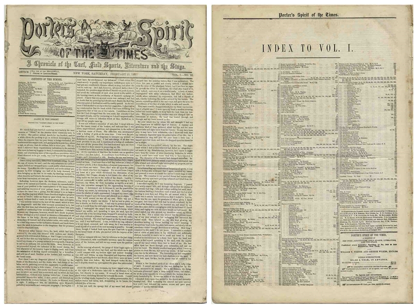 Significant Newspaper in the History of Baseball -- The First Printing of the First Baseball Convention in 1857 and ''Their New Rules''