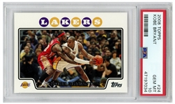 Kobe Bryant 2008 Topps #24 Pictured With LeBron James -- PSA Graded Gem Mint 10