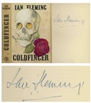 Ian Fleming Signed First Edition, First Impression of Goldfinger in Original Dust Jacket -- Near Fine Condition -- With University Archives COA