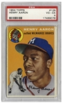 Hank Aaron 1954 Topps Rookie Card #128 -- PSA Graded Very Good-Excellent 4