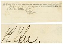 Robert E. Lee Document Signed -- With Provenance From Lees Son George Washington Custis Lee