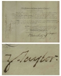Zachary Taylor Naval Appointment Signed as President -- The Third Rarest Autograph as President