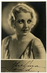 Thelma Todd Signed 11 x 14 Photo by Photographer John Miehle