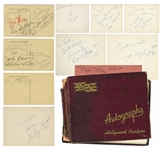 Hollywood Autograph Book Full of Golden Age Celebrity Signatures -- Elizabeth Taylor, Shirley Temple, Bing Crosby, George Burns & More