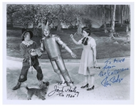 Ray Bolger and Jack Haley Signed 10.25 x 8 Wizard of Oz Photo
