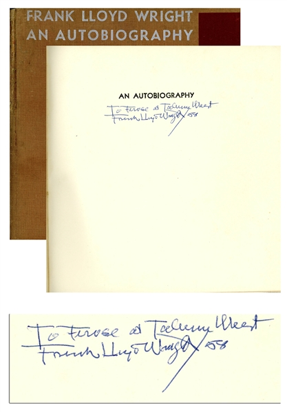 Frank Lloyd Wright Signed ''An Autobiography''