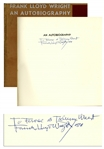 Frank Lloyd Wright Signed An Autobiography
