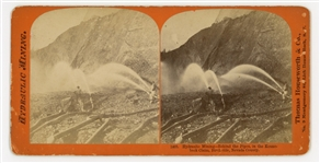 19th Century Stereoview of Hydraulic Gold Mining in California