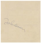 John Lennon Signature, Without Inscription -- Acquired in 1974 in Las Vegas During Lennons Lost Weekend -- With Roger Epperson COA.