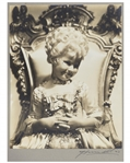 Shirley Temple Personally Owned Photo From Heidi as Marie Antoinette -- Portrait Signed by Photographer George Hurrell on Mat