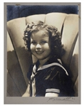 Shirley Temple Personally Owned Photo From Heidi -- Large Portrait Signed by Photographer George Hurrell on Mat