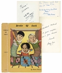 The Three Stooges Signed Copy of Larry Fines Autobiography Stroke of Luck -- Signed by Fine, Moe Howard, Joe DeRita, Joe Besser Plus 14 More Including Jules White, Emil Sitka and Ed Bernds