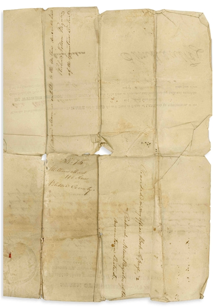 Sam Houston Land Grant Signed as Governor of Tennessee