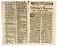 March 1765 Newspaper Reporting on the Stamp Act, One of the First British Tax Laws That Precipitated the Revolutionary War