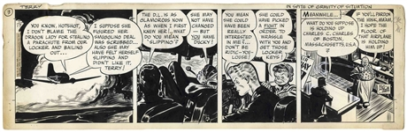 Terry and the Pirates Original Comic Strip by Milton Caniff From 1946