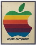 Original Apple Computer, Inc. Signs Measuring Over 4 x 5 -- One of the Earliest Apple Retail Signs, Circa 1978