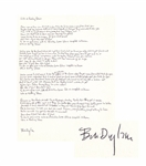 Bob Dylan Signed, Handwritten Lyrics to Like a Rolling Stone, The Quintessential Rock Song -- With Jeff Rosen COA