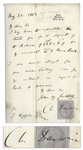 Charles Darwin Autograph Letter Signed From 1863, Shortly After Fertilisation of Orchids Was Published