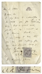 Charles Darwin Autograph Letter Signed From 1864 Shortly After On the Origin of Species -- ...I am sorry to hear that you are still suffering from the most painful illness of gout...