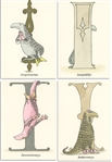 Edward Gorey Original Limited Edition Set of His Famous Hand-Painted Alphabet Postcards