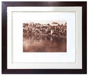 Edward Sheriff Curtis Original Large Photogravure Plate of At the Pool, Animal Dance - Cheyenne -- From The North American Indian