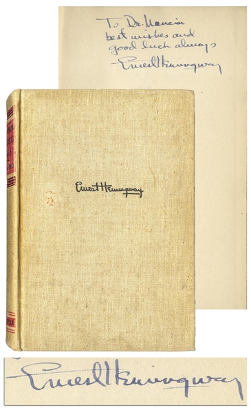 Ernest Hemingway Signed First Edition of His Classic ''For Whom The Bell Tolls'' -- With University Archives COA