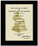 Grammy Nomination for Best Comedy Recording Awarded to Comedian Ernie Kovacs in 1977