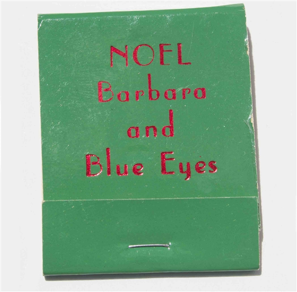 Fun Memento Owned by Frank Sinatra, His Personal Set of Matches for the Christmas Holidays -- ''Blue Eyes''